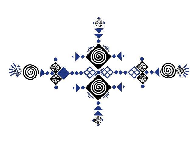 Naklejka dekoracyjna welurowa geometryczna 679394-00 Klimaty Domu