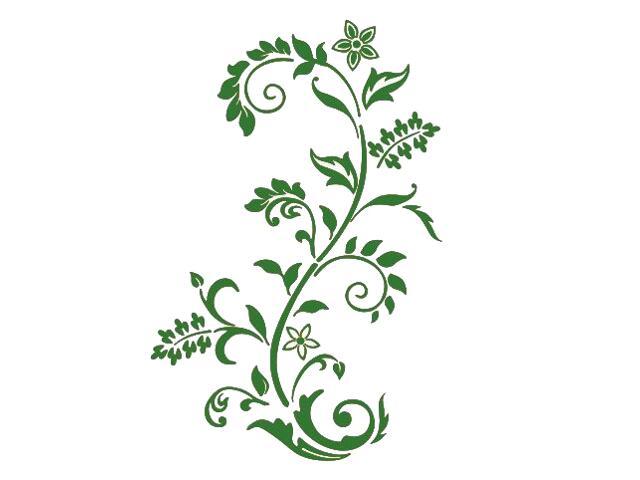 Naklejka dekoracyjna welurowa roślina 679008-9 Klimaty Domu