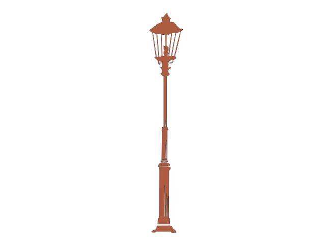 Naklejka dekoracyjna welurowa latarnia 679019-2 Klimaty Domu