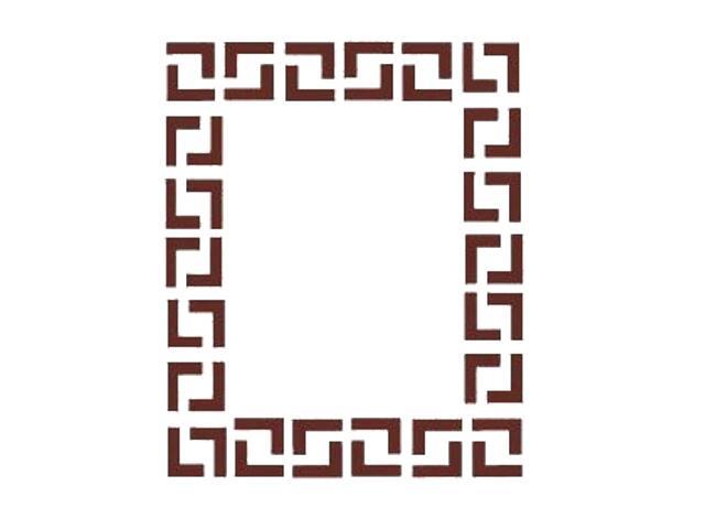 Naklejka dekoracyjna welurowa geometryczna 674000-17 Klimaty Domu