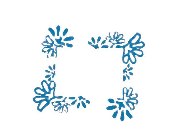 Naklejka dekoracyjna welurowa ornament 674003-4 Klimaty Domu