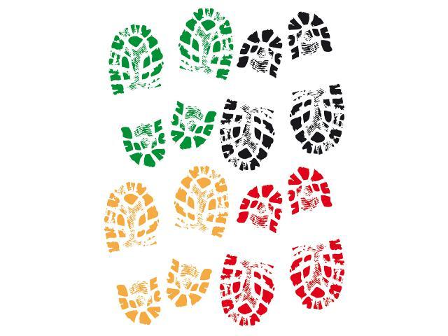 Naklejka dekoracyjna buty K00213 Ergis