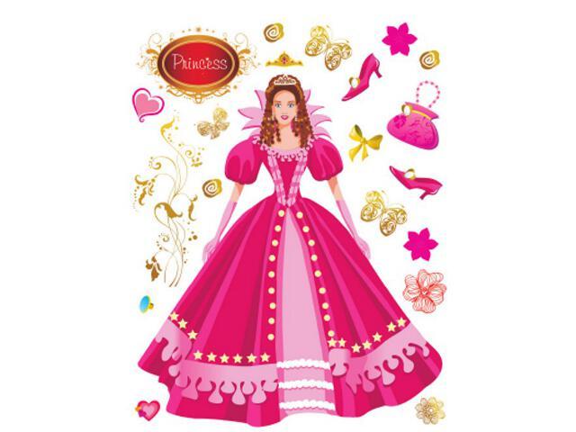 Naklejka dekoracyjna księżniczka K00819 Ergis