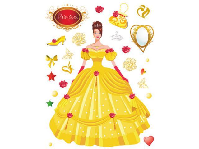 Naklejka dekoracyjna księżniczka K00820 Ergis