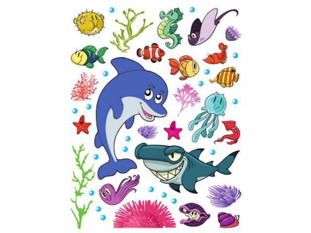 Naklejka dekoracyjna rybki K00822 Ergis
