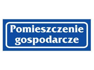 """Znak informacyjny """"Pomieszczenie gospodarcze"""" Z-R20-F rozm. 90x240 ANRO"""