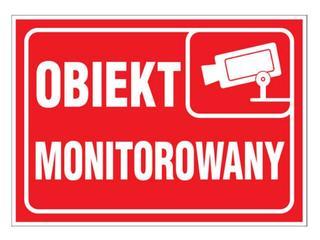 """Znak informacyjny """"Obiekt monitorowany"""" Z-R111-F rozm. 150x210 ANRO"""