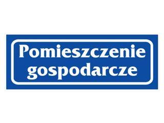"""Znak informacyjny """"Pomieszczenie gospodarcze"""" Z-R20-P rozm. 90x240 ANRO"""