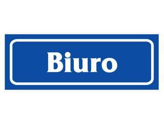 """Znak informacyjny """"Biuro"""" Z-R13-F rozm. 90x240 ANRO"""