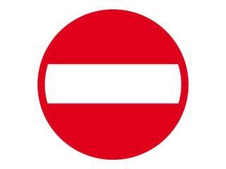 """Znak informacyjny """"Zakaz wjazdu"""" Z-DW110-P rozm. 330x330 ANRO"""