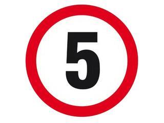 """Znak informacyjny """"Ograniczenie prędkości do 5 km/h"""" Z-DW112-P rozm. 330x330 ANRO"""