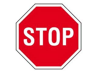 """Znak informacyjny """"Stop"""" Z-DW115-P rozm. 330x330 ANRO"""