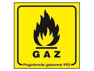 """Znak informacyjny """"Gaz"""" Z-1G-F rozm. 100x100 ANRO"""