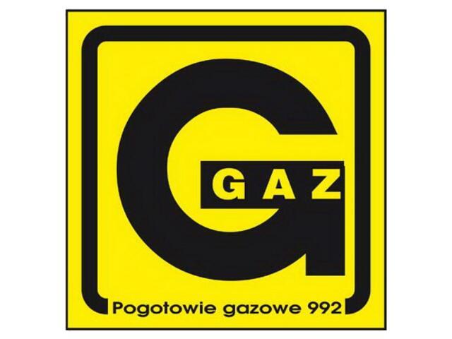 """Znak informacyjny """"Gaz"""" Z-2G-F rozm. 150x150 ANRO"""