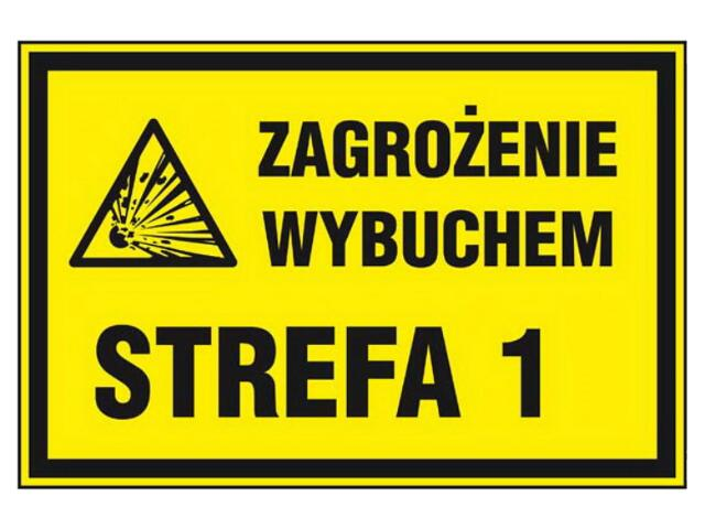 """Znak informacyjny """"Strefa zagrożenia wybuchem Z 1"""" Z-4G-P rozm. 300x300 ANRO"""