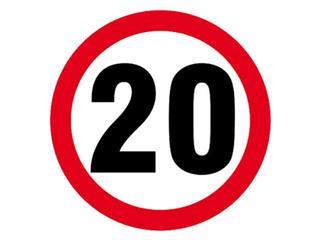 """Znak informacyjny """"Ograniczenie prędkości do 20 km/h"""" Z-DW118-P rozm. 330x330 ANRO"""