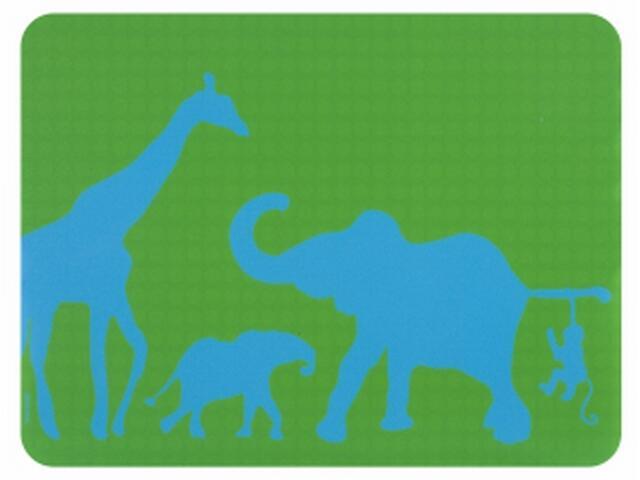Ochronna mata podłogowa 120x90cm gr.1mm zielono-niebieska Barlinek