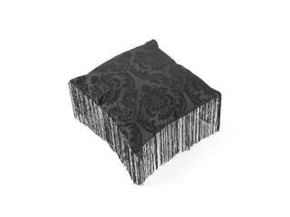 Poduszka Arabeska z frędzlami czarny 40x40 Mardom