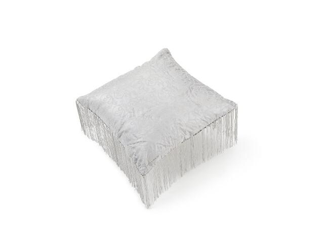 Poduszka Classic z frędzlami srebrny 40x40 Mardom