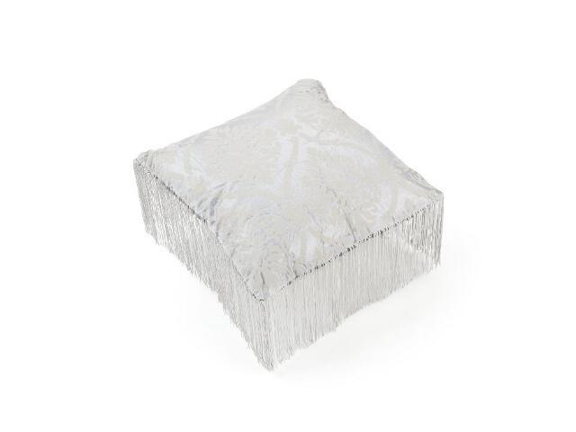 Poduszka Fiore z frędzlami srebrny 40x40 Mardom