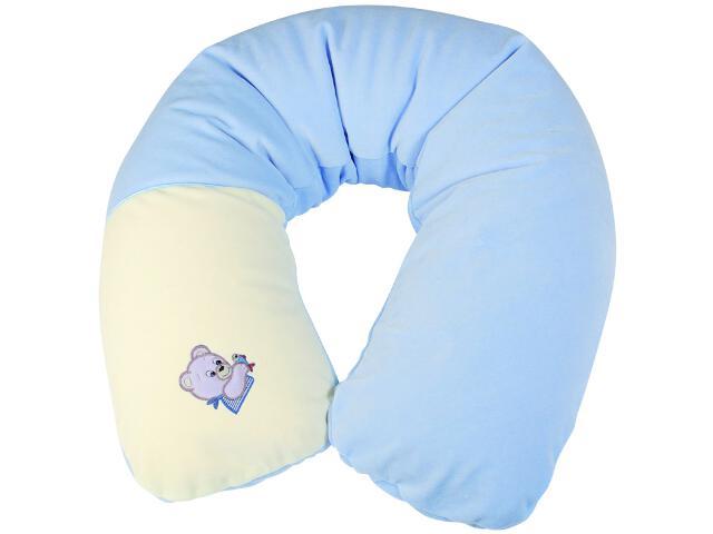 Poduszka welurowa Relax Misiaczki 170cm niebieski BabyMatex