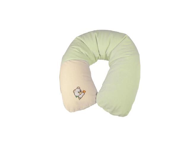 Poduszka welurowa Relax Misiaczki 170cm zieleń BabyMatex