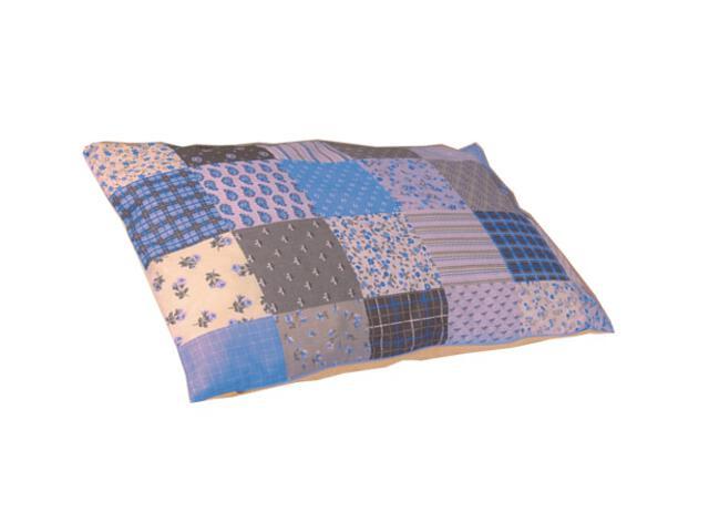 Poduszka niemowlęca Patchwork 30x40cm niebieski-krem BabyMatex