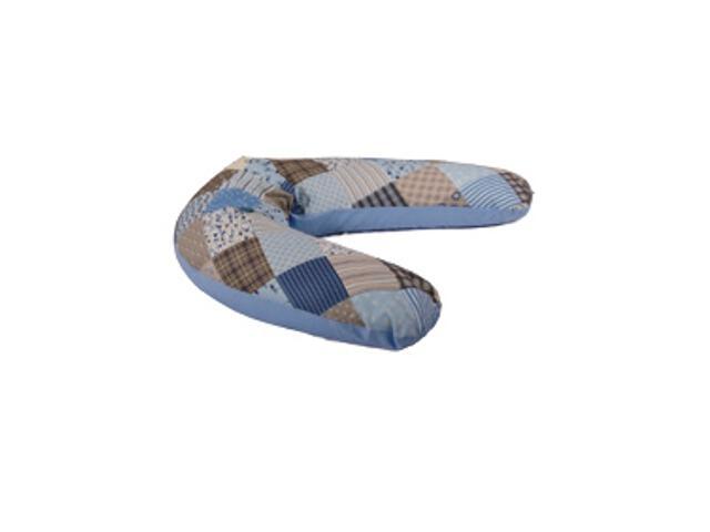 Poduszka Relax Patchwork 170cm niebieski BabyMatex