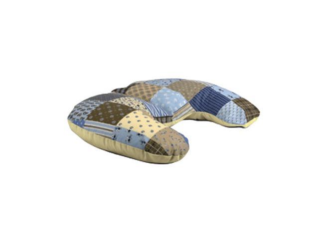 Poduszka miniRelax Patchwork 140cm niebieski-krem BabyMatex