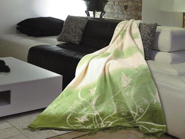 Koc Moreno 150x200cm krem-zieleń Matex