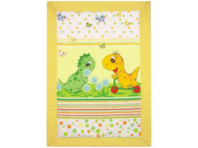 Mata dla dzieci Dinozaury 105x75cm żółty BabyMatex