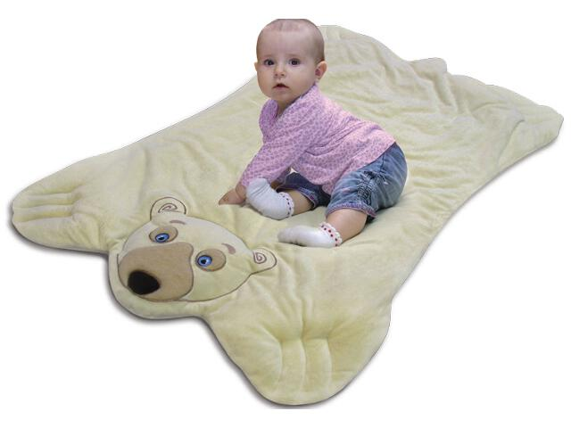 Mata pluszowa dla dzieci Misiaczek 105x70cm BabyMatex