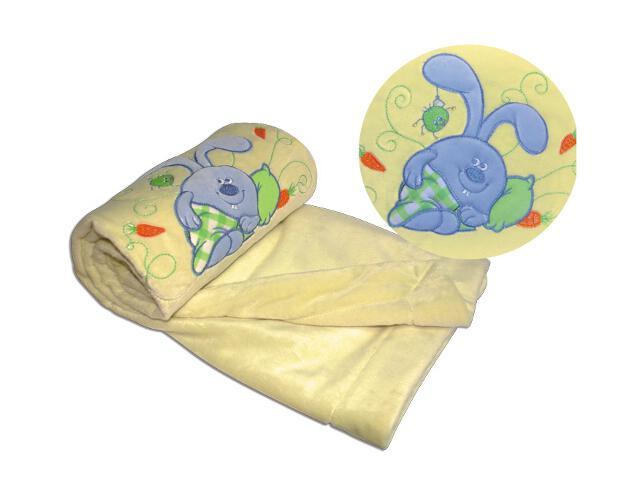 Koc bajkowy z pluszu 75x100cm krem BabyMatex