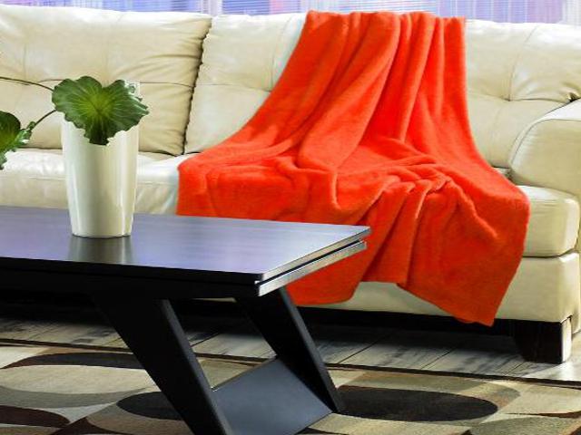 Koc Kaszmirowy Dotyk 150x200cm orange Matex