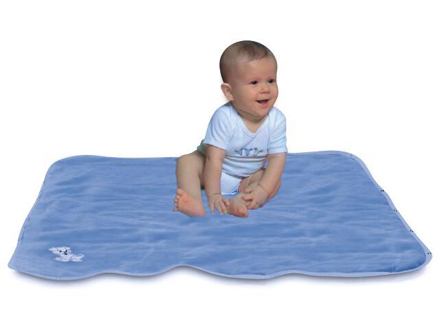 Koc niemowlęcy wielofunkcyjny Niki 90x90cm niebieski BabyMatex