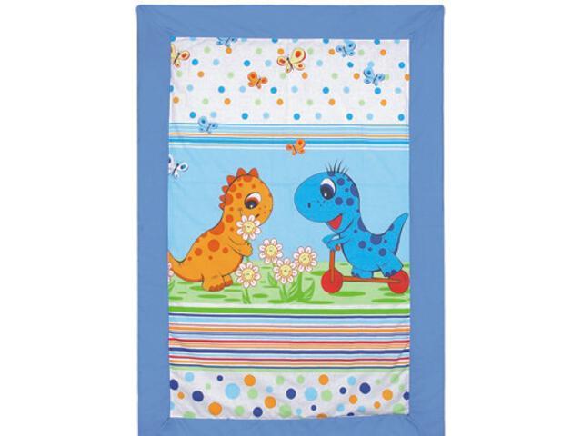 Mata dla dzieci Dinozaury 105x75cm niebieski BabyMatex