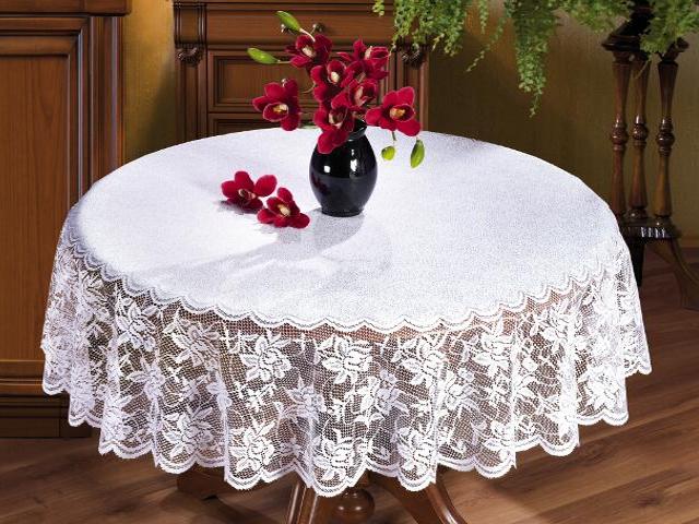 Obrus Walenty B027 120 cm biały Wisan