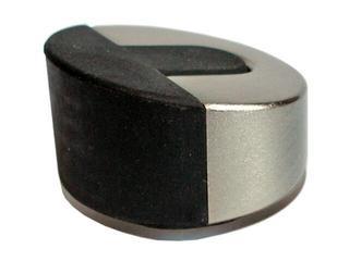 Odbojnik niski walec srebro mat A-80006-01-002 Aspro