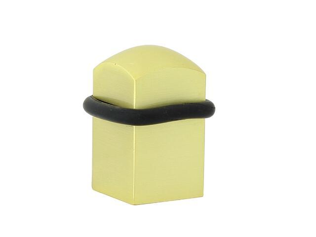 Odbojnik 430 kwadrat mosiądz satynowany Domino