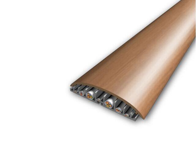 Listwa maskująca 74mm PVC olcha F4 dł. 1m V-VOLTA-F4-100 Volta