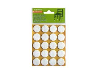 Podkładki filcowe białe fi 20 mm okrągłe 20 szt. Barlinek