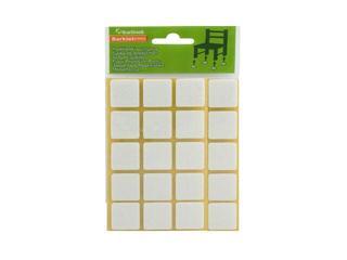 Podkładki filcowe białe 20x20 mm kwadratowe 20 szt. Barlinek