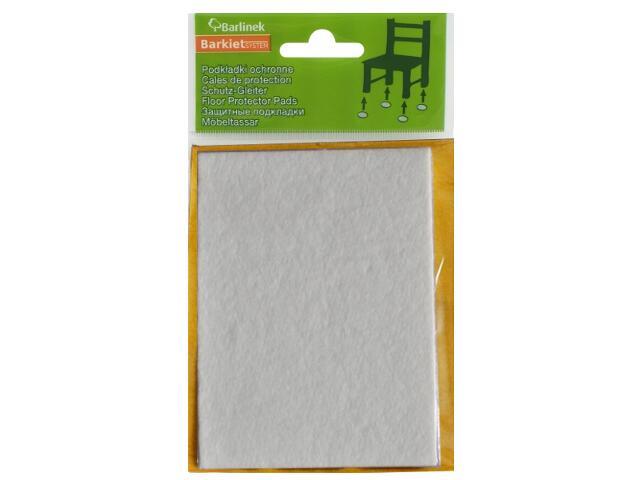 Podkładki filcowe białe 100x120 mm prostokątne Barlinek