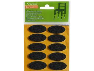 Podkładki filcowe czarne 40x20 mm owalne 10 szt. Barlinek