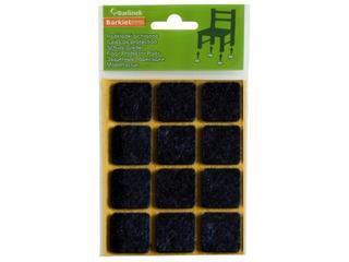 Podkładki filcowe czarne 20x20 mm kwadratowe 20 szt. Barlinek