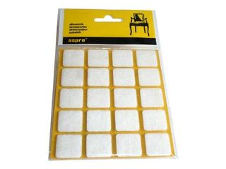 Podkładki filcowe białe (20x20) - 20szt A-40001-03-020 Aspro