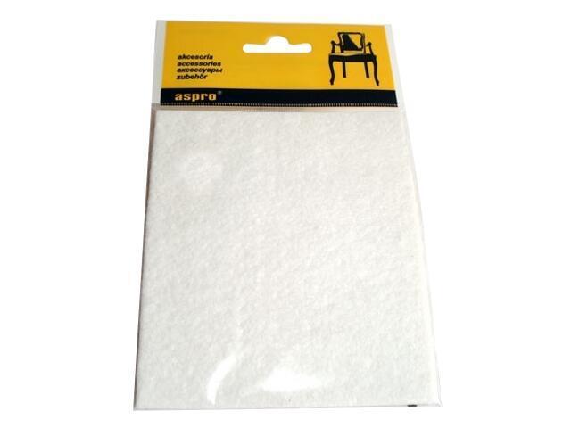 Podkładki filcowe białe (100x120) A-40001-05-001 Aspro