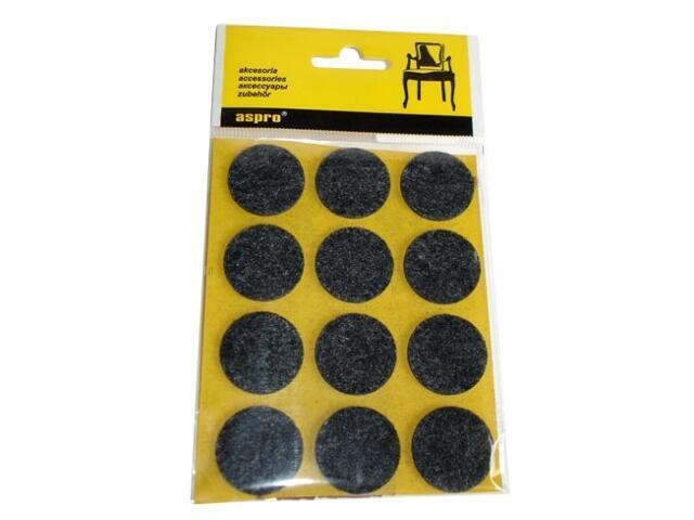 Podkładki filcowe czarne fi 28 - 12szt A-40002-02-012 Aspro
