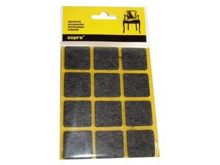 Podkładki filcowe czarne (28x28) - 12szt A-40002-04-012 Aspro