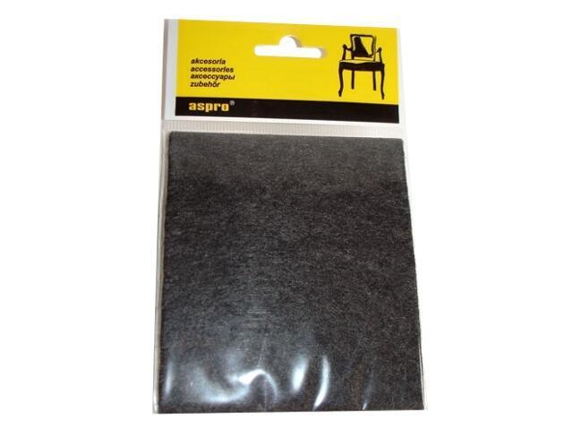 Podkładki filcowe czarne (100x120) A-40002-05-001 Aspro